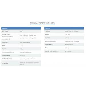 HADEWE Helius 22 MD  frezarka podologiczna z pochłaniaczem pyłu